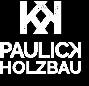 Paulick Holzbau Logo weiß und quadratisch